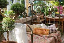 véranda jardin hiver