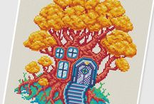 Tree house / by PIXcross Pattern