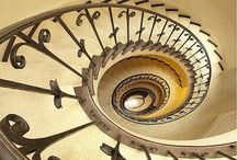 Staircases / Beautiful stair case designs with industrial, rustic, and steampunk inspired spaces.