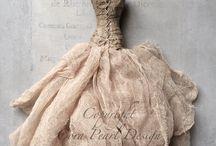 robe tissus et papier