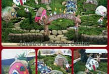 Fairy Garden's at our Garden Center / Here you will find pictures of Fairy Gardens and accessories available at Alvetro's Garden Center