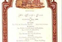 Christmas dinner menus / Vintage menus