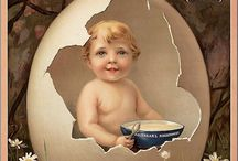 ~ VINTAGE ADS ~ / Vintage advertising with baby's and little children