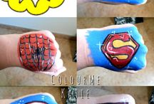 face painting superhero