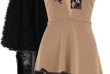 Simple beige dress