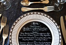 Parties: Place settings & center pieces