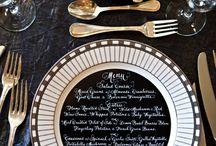 Table design and menus / Menu and table setting original options #luxuryweddingplanner #franceweddings #chateauweddingfrance #weddingceremony #weddinginspirations #corporate #event #planner #corporateeventplannerparis #elegant