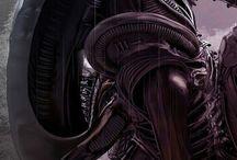 Creatures of fiction / Aliens predators and more