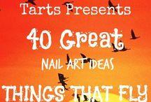 Crumpet Nail Tarts Presents - Things That Fly / Crumpet Nail Tarts Presents 40 Great Nail Art Ideas #40gnai