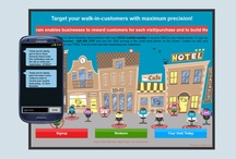 Target your Customers / Images and Screens from a generic audience demo used in presentations on large screens and video walls as well as in power point presentations that explain how to target your customers with SMS/Text message marketing.