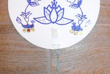 Mia Luna Prints on Paper Medallions / Paper medallions: lamp shades and sun catchers