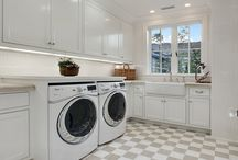 Laundry Room Inspirations / If you think laundry rooms have to be boring, these beautiful laundry rooms will change your mind.
