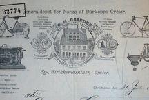 Gamle ting fra Norge. / Gamle bøker / blader / malerier / postkort / brev  / skilt / reklame og Aviser.