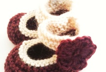 Handmade Shoes/Booties by Tafferty Designs / A collection of handmade (knitted and crocheted) babies' and children's shoes exclusive to Tafferty Designs