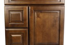 Maple Chestnut Bathroom Vanities / Quality & Affordable Juniper Chesnut Wood Bathroom Vanities from Everyday Cabinets