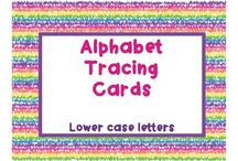 Tracing card collection / A collection of dry-erase tracing cards for sight words and letters available on Teachers Pay Teachers.