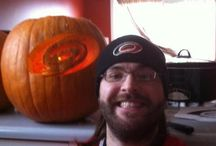 Hurricane Halloween  / Tweet your best #Canes themed pumpkin carving at the @NHLCanes or @NHL twitter accounts with the #HockeyHalloween, and we may pin them here! / by Carolina Hurricanes