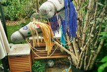sockenpferd stick horse diy / Steckenpferde aus alten Wollsocken