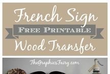 Printables - Wood Transfers