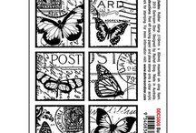 Darkroom Door Collage Butterfly, Poppy etc
