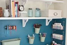 C R A F T R O O M / O F F I C E S P A C E / A craft room and office space for the family to use