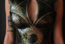 viking dragon corset