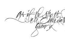 Calligraphy gestural