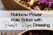 Rainbow power salad