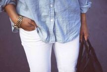 White trousers is must..
