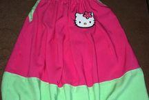 Hello kitty dress / DIY dress sewing  felt hello kıtty