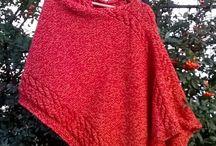 Ponča - poncho / Knitted poncho
