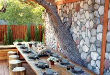 Inspiration TABLETOP OUTDOORS / Great outdoor table setting ideas
