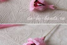 Chocolate flower diy