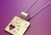Silver clay necklace