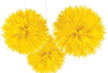 festa in giallo / party a tema, feste colorate....