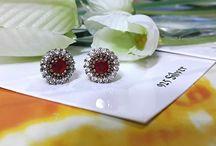 silver stud minimalist earrings