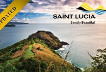 St. Lucia / Saint Lucia is a sovereign island country in the eastern Caribbean Sea on the boundary with the Atlantic Ocean. Part of the Lesser Antilles, it is located north/northeast of the island of Saint Vincent, northwest of Barbados and south of Martinique