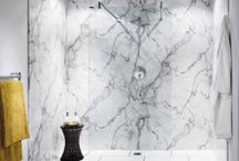Nuance Bathroom Worksurfaces, Wall Panels and Upstands / Alternative to tiling, 100% water proof, easy to install and maintain. Stunning effects.