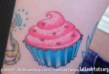 Cupcake Tattoos / Gonna get me some cupcake tats for my muffin top cause it's so sweet ;)