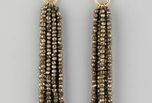 Tassel earrings inspiration | www.white-giraffe.com / Tassel earrings made with Czech beads.