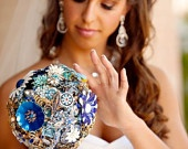 Brooch bouquets - blue