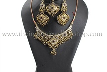 Indian Necklace Sets / Indian Necklace Sets in 3 Pce and 5 Pce sets with matching tikka, earrings and jhumar for a beautiful finish to your complete look.