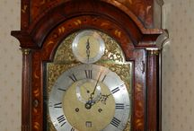 Marquetry Antique Grandfather Clocks / 17th and 18th century English marquetry grandfather clocks of different styles