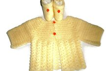 tricot bébé /  layette fait-main tricot et crochet