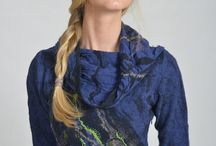 Nunofelting - cloting - fashion / felted dress is from Felt Collection