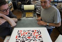 EM letterpress | Our Shop / Behind the scenes. Ink, paper and plates.