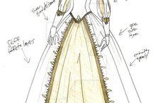 Vestidos Medievais Desenho