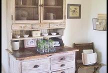 Eskitme yardımcı mutfak dolapları/Antique kitchen cabinets