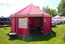 SCA Camp Tents / Tents, Yurts, and other canvas shelters. Sometimes vardos or trailers.
