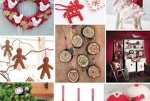 Scandinavian Christmas / Brimming with traditional red and white vibes and rustic wooden decorations, a Scandinavian Christmas never fails to please.